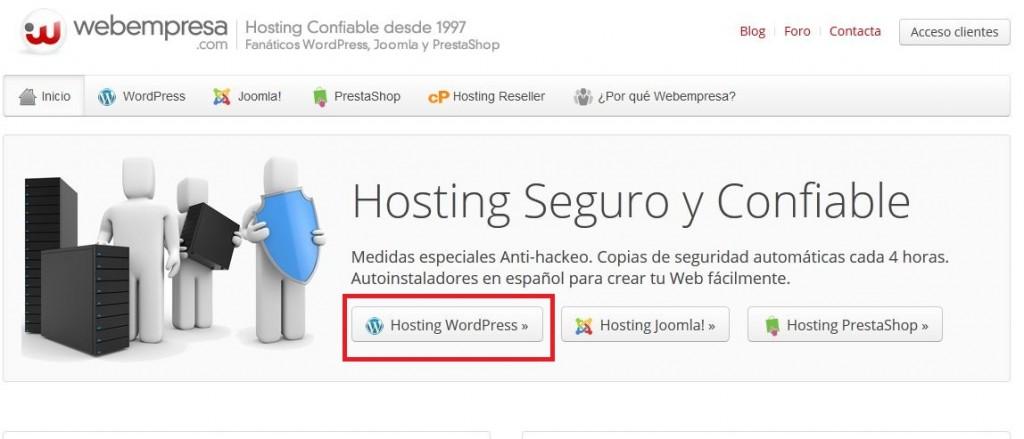 Cómo hacer un blog con webempresa